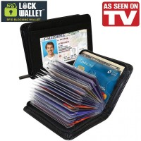 Lock Wallet Dompet Kartu Kredit Secure RFID Blocking