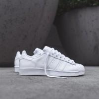 Sepatu Adidas ORIGINAL Superstar Foundation Full White wanita/pria