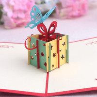 kartu ucapan 3D timbul 4D happy birthday gift card greeting card