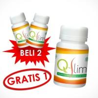 PROMO BELI 2 GRATIS 1! Obat Pelangsing Herbal QSlim | Q Slim | Q-Slim