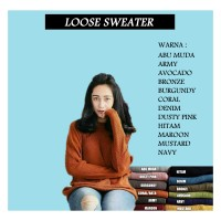 Loose sweater   sweater rajut   baju rajut   pakaian wanita   rajutan