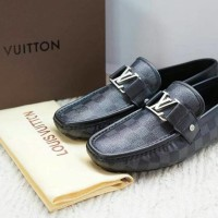 SEPATU KULIT LOUIS VUITTON DAMIER MIRROR QUALITY 1:1  ORIGINAL