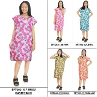 Jual Daster Midi, Dress Santai, Baju Tidur, Piyama, Atasan Batik-BPT002-13 Murah