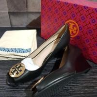 Sepatu Tory Burch Original - Tb kara wedges black