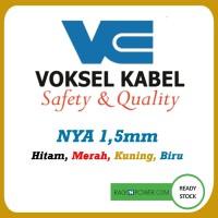 Kabel Listrik Voksel NYA 1,5 mm 50meter Black,Blue, Y/G