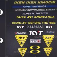 Paket Stiker Visor Helm KYT KBC NHK Custom