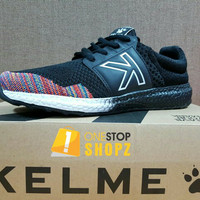 KELME FLOAT KNIT BLACK N WHITE RUNNING TRAINING SHOES ONESTOPSHOPZ