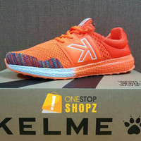 KELME FLOAT KNIT ORANGE WHITE RUNNING TRAINING SHOES ONESTOPSHOPZ