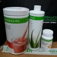 Paket shake herbalife# lengkap dengan SHAKE MILK + ALOE +NRG BS GOJEK