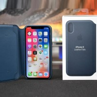 ORIGINAL LEATHER CASE iPhone X 10 Hybrid Hard Case Casing