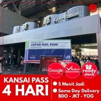 JAPAN KANSAI PASS 4 HARI (DEWASA) | JR Kansai Area Pass Jepang