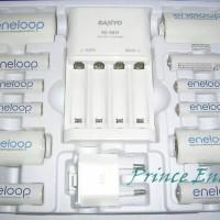Sanyo Eneloop Family Pack 2D 2C 4AA 4AAA R06