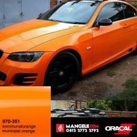 Stiker Mobil Wrap Oracal 970 G Premium 351 MUNICIPAL ORANGE Gloss agen