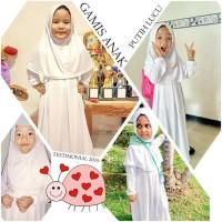 Termurah Promo Gamis Anak Dan Manset Anak Warna Putih