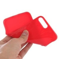 SMOOTH SURFACE SOLID TPU CASE IPHONE 7 PLUS RED Diskon