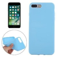 SMOOTH SURFACE SOLID TPU CASE IPHONE 7 PLUS BABY BLUE Murah