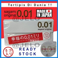 SAGAMI CONDOM ORIGINAL 0 01 Made in Japan Kondom Tertipis DI DUNIA i