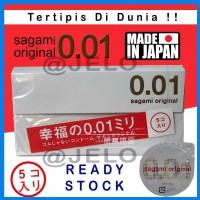 SAGAMI CONDOM ORIGINAL 0 01 Made in Japan Kondom Tertipis DI DUNIA i
