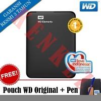 WD Elements Hardisk Eksternal 1TB 2 5 USB3 0 Hitam Pouch Pen