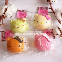 hello kitty head bun Squishy by Sanrio Squishy Bakpao Slow