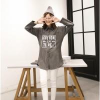 Harga promo baju murah baju baseball korea wanita kemeja dress oversized | Pembandingharga.com