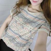 Jual BAJU WANITA MURAH kaos tribal vintage ala korea snsd kpop star pakaian Murah