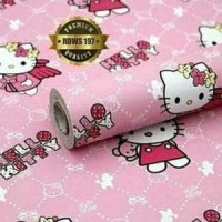 Jual Wallpaper Hello Kitty 10 Meter x 45Cm HK Wall Paper Sti Murah Murah