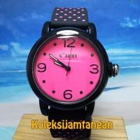 JAM TANGAN WANITA G ARMY GPL139-2 HITAM PINK ORIGINAL MURAH