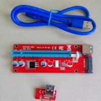 PROMO Riser PCI PCI E 1X 16X Untuk Mining Miner Bitcoin VGA Riser GPU