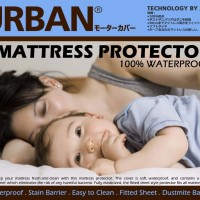 Bed Protector Urban Queen Size Sprei Waterproof 160x200 160 x 200 CM