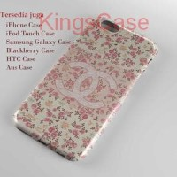 Coco Chanel Flowers Pattern Logo Phone Case Semua Type HP