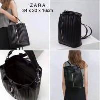 zara quilted ransel rucksack