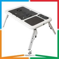 Meja Laptop Lipat Portable With Cooling Fan / Kipas Pendingin