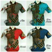 Baju Batik Blok Warna || M,L,XL