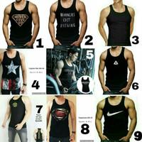 Kaos Singlet Gym fitness underarmor Under armour baju tanktop cowok