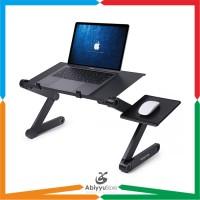 Meja Laptop Lipat Portable Premium i-Robot Dilengkapi Kipas Pendingin