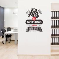 Wall Stiker Dinding Kaca Live Integrity Sticker Kantor Motivasi