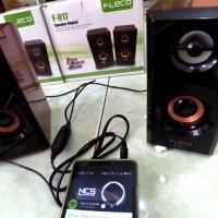Speaker Aktif Untuk HP Mini Terbaik  Speker Portable Fleco PC Komputer