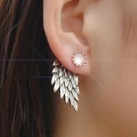 Anting gothic model sayap bidadari warna silver model anting tusuk