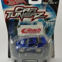 Diecast Hotwheels Car Tunerz 2000 Honda Civic Si Biru ( Rare )