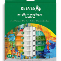 Reeves Acrylic Paint Tube Set , 10ml - 24 Pack