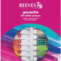 Reeves Gouache Paint Tube Set , 10ml - 24 Pack