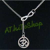 Kalung Liontin NAMASTE Yoga Infinity Pendant Necklace