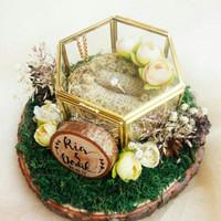 Tempat Cincin Rustic Model O untuk Pernikahan, Lamaran atau Tunangan