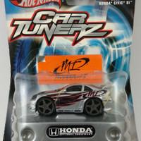Diecast Hotwheels Car Tunerz 2000 Honda Civic Si Silver ( Rare )