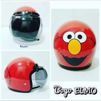 Helm Retro Bogo Elmo SNI Putih Merah Hitam Pink Biru Kuning