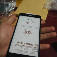 TEMPERED GLASS 5D XIAOMI REDMI NOTE 4 4X MEDIATEK FULL LAYAR HP