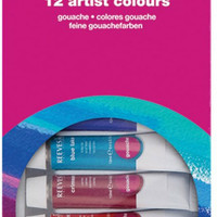 Reeves Gouache Paint Tube Set , 10ml - 12 Pack