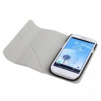 Horizontal Flip Leather Case Cover with Holder for Samsung Galaxy SIII