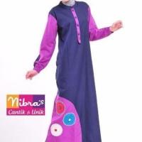Model Baju Gamis Terbaru Nibras NB 85 Dongker ORIGINAL